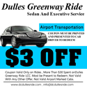 Dulles ride taxi coupon $3 off