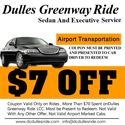 Dulles ride taxi coupon $7 off